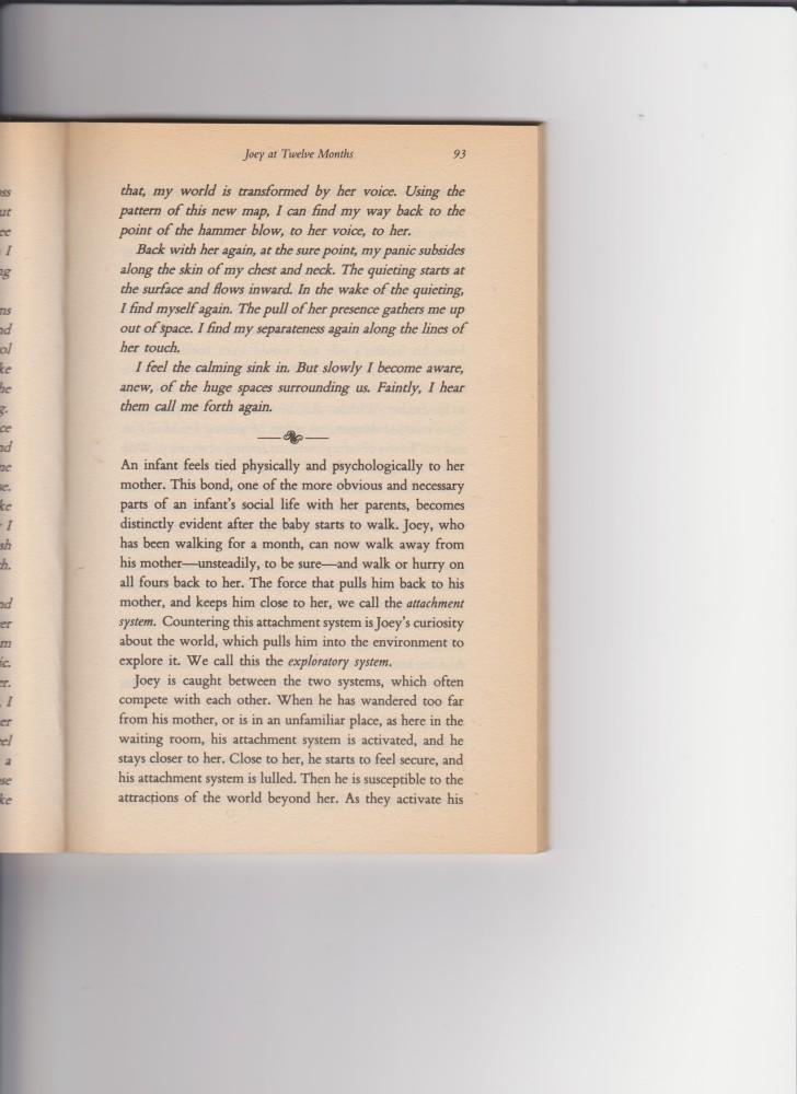 Traduzione EN > IT, Un frammento dal libro di Dr. Daniel N. Stern DIARY OF A BABY (4/4)